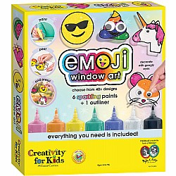 Creativity for Kids Emoji Window Paint Activity Kit
