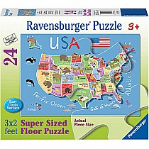 24 pc USA Map Floor Puzzle