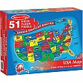 U.S.A. Map 51 pc Floor Puzzle