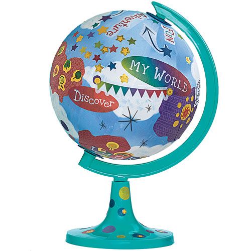 Create your world globe out of the blue toys - Create your world ...