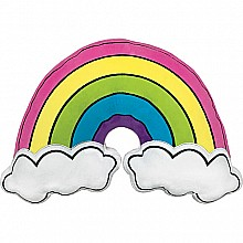 Rainbow and Clouds Microbead Pillow