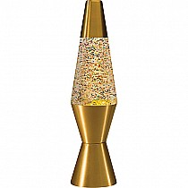Gold Rainbow Glitter Lava Lamp