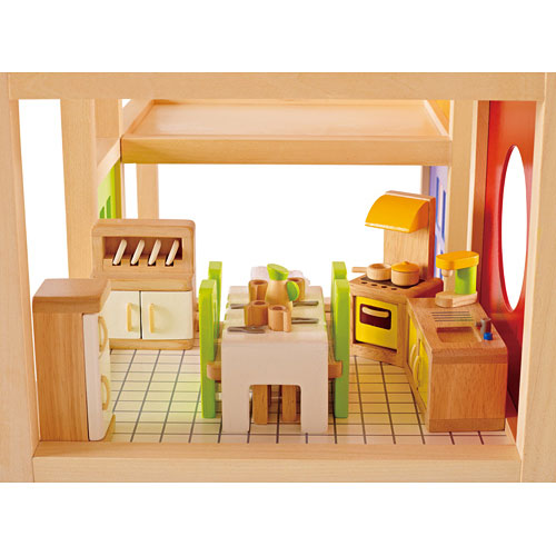 Fully Furnished Doll House Hape Intl