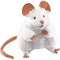 Folkmanis White Mouse Puppet