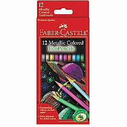 12 pc Metallic Colored EcoPencils