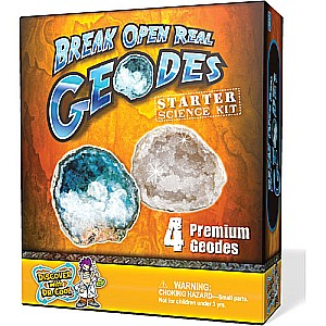 Break Open Real Geodes Starter Kit, 4 pc