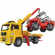 MAN TGA Breakdown Truck with Vehicle