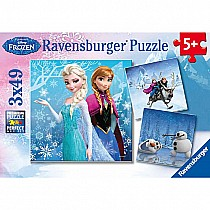 49 pc Disney's Frozen Winter Adventures Puzzles