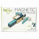 Tegu Magnetic Wooden Blocks Blues 24 pc set