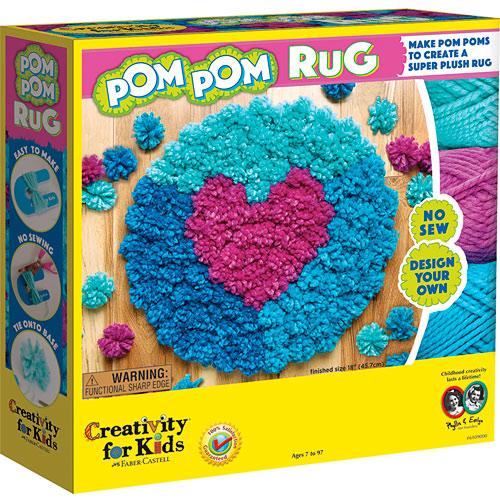 how to make a yarn pom pom rug