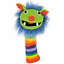 Rainbow Knitted Puppet