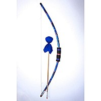 Blue Tie Dye Bow and Arrow