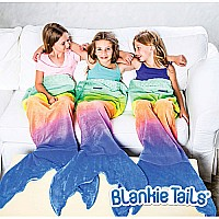 Mermaid Rainbow Ombre Blankie Tail