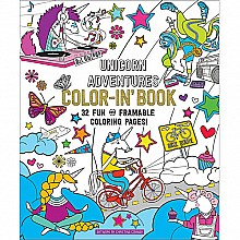 Unicorn Adventures Color-In' Book