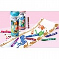 Dinosaur World Create & Doodle Roll Travel Set