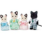 Calico Critters Tuxedo Cat Family