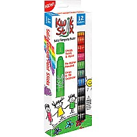 Kwik Stix Tempera Paint Sticks - 12 Classic Colors