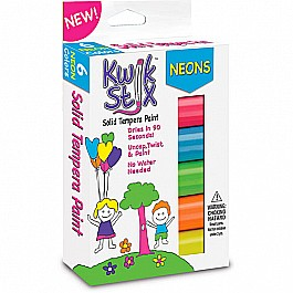 Kwik Stix Tempera Paint Sticks - 6 Neon Colors