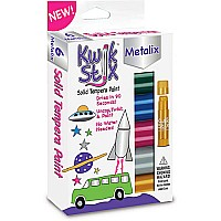 Kwik Stix Tempera Paint Sticks - 6 Metalix Colors