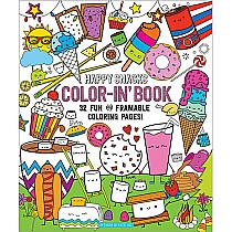 Happy Snacks Color-In' Book