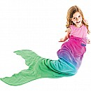 Ombre Mermaid Blankie Tail - Hot Pink, Aqua