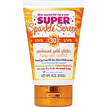 Water Resistant Super Sparkle Screen - Tangerine Scent, Gold Glitter