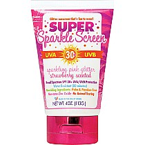 Water Resistant Super Sparkle Screen - Strawberry Scent, Pink Glitter