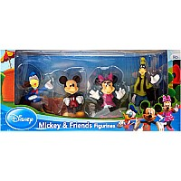 Disney - 4 Pack: Mickey & Friends Figurine Set (Mickey Mouse, Minne Mouse, Goofy & Donald Duck)