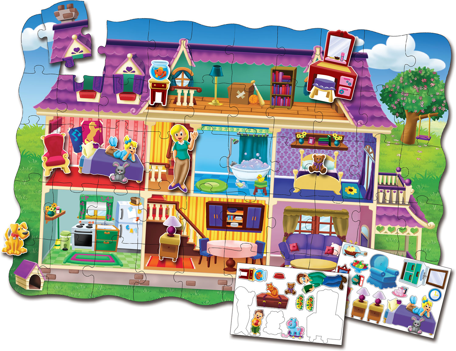 Puzzle Doubles Create A Scene Dollhouse The Learning Journey
