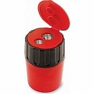 2 Hole Pencil Sharpener with Lid - Assorted Colors (20 per Bucket)