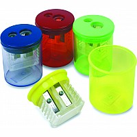 2 Hole Canister Sharpener - Assorted Colours, sold individually