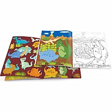 Dry Erase Coloring Book - Dinosaur World