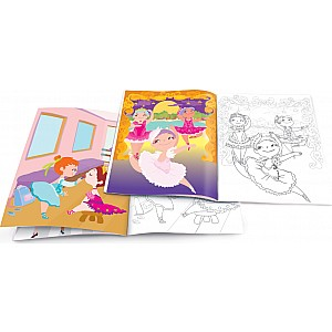 Dry Erase Coloring Book - Pretty Ballerinas