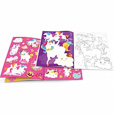 Dry Erase Coloring Book - Unicorn Fantasy