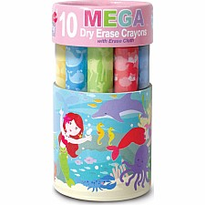Dry Erase Mega Crayon- Magical Mermaids