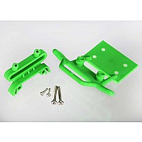 Bumper, front / bumper mount, front / 4x23mm RM (2)/ 3x10mm RST (2) (green)