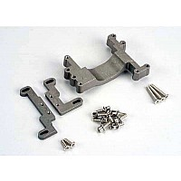 Engine mount, 2 piece, aluminum (w/ screws) (N. Stampede)