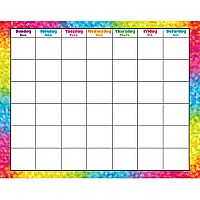 Colorful Brush Strokes - Wipe-Off Calendar