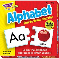 Alphabet Fun-To-Know Two-Piece Puzzles