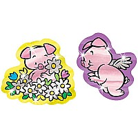 Perfect Pigs Foil Bright Stickers