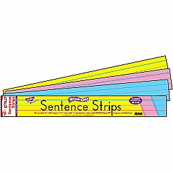24'' Multicolor Sentence Strips Wipe Off