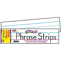 12'' White Wipe-Off Phrase Strips