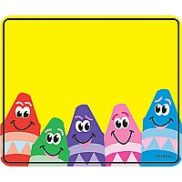 Colorful Crayons Name Tags