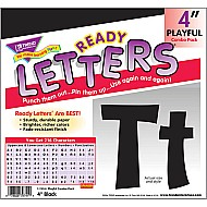 "Black 4"" Playful Uppercase/ Lowercase Combo Pack"