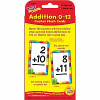 Addition 0-12 Pocket Flash Cards