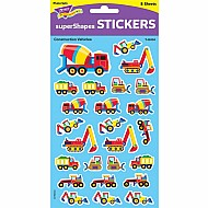 Construction Vehicles Large Supershapes Stickers