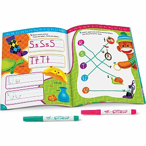 Alphabet Fun Sock Monkeys Wipe-Off Book