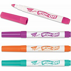 4-Pack Bright Colors Wipe-Off Markers