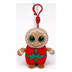 Sweetsy Clip-On Beanie Boo Gingerbread Present Ornament
