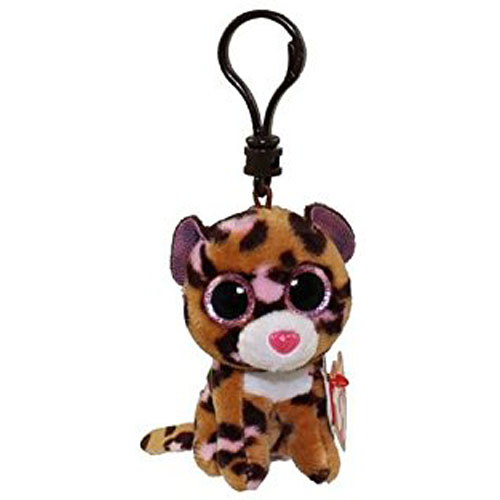 Ty Beanie Boo Plush Patches The Leopard Clip 3 Keychain